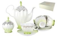 Набор чайный 6/14 250мл п/уп QS014-3(14PCS) Симфония салатовая
