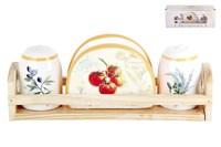 Набор сол.+пер.+салфетница 1/3 п/уп ZFC049-36 Tuscan vegetables