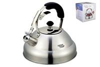 Чайник 2.7л со свистком, ручка soft touch  GS-0432FY нерж.стальной