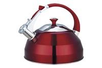 Чайник 3л. со свистком GreenTOP GS-04156FY нерж.красный