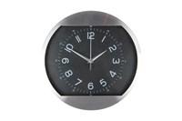 Часы 30см 3109 черный  металлический  корпус