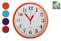 Часы настенные микс 25см 2275 Радуга 4цв