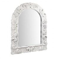 Зеркало в белой резной раме 122х6х92