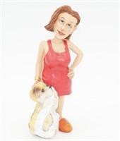Статуэтка Девушка с щенком 6,5х5,5х15