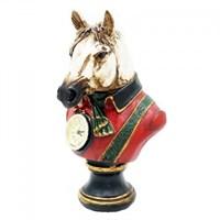 Статуэтка лошади с часами 15х16х26