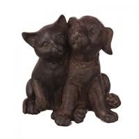 Статуэтка кошка с собачкой (Отгружается по 6 шт) 8,5х6,5х9