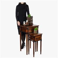 Набор консолей-столиков на 1 ящик деревянных  English castle