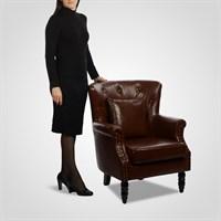 Кресло Мягкое Интерьерное в Стиле Лофт с Подушкой (Эко Кожа)