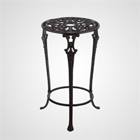 Чугунный Круглый Кофейный Ажурный Стол 52 см.