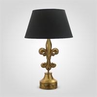 Настольная Лампа Золотистая Ажурная Лилия