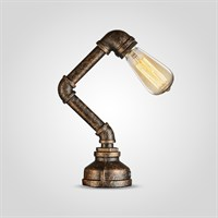 Настольная Лампа на Одну Лампу в стиле Лофт (Металл)