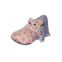 Подушка - бегемотик голубая,розовая 25х50см