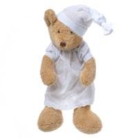 Медвежонок коричневый девочка  в ночной сорочке 37  см