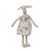 Кролик девочка в цветном платье 35см