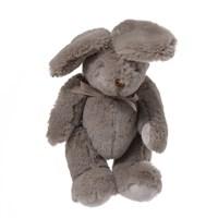 Кролик плюшевый коричневый 19см