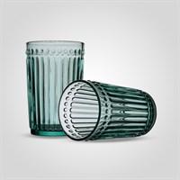 Стакан Стеклянный для Воды Бирюзовый Большой (от 6 штук)