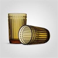 Стакан Стеклянный для Воды Желтый Большой (от 6 штук)