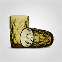 Стакан Стеклянный для Воды Желтый Ромб (от 6 штук)