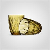 Стакан Стеклянный Золотистый Бриллиант (от 6 штук)