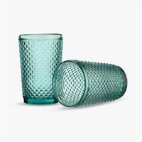 Стакан для Воды Бирюзовый Ромбик 300 ml (от 6 штук)