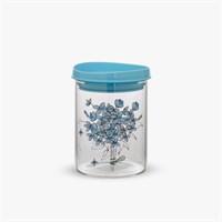 Банка Стеклянная для Сыпучих Голубой Клевер M (700 ml)