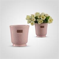 Ваза Керамическая Матовая Розовая S