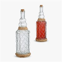 Бутыль для Самогона или Вина в Металлической Сетке S