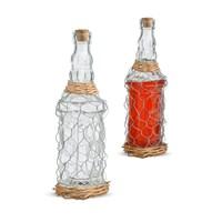 Бутыль для Самогона или Вина в Металлической Сетке M