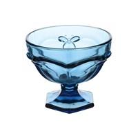 Креманка стеклянная Грани синяя (6 штук)