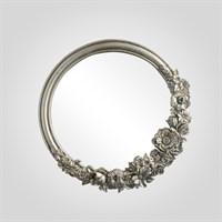 "Зеркало Серебристое Настенное ""Silver Flowers""40 см. (Полистоун)"