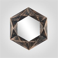 Зеркало Настенное Круглое в стиле Арт-Деко Коричневое Малое (Полимер)