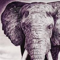 """Панно Декоративное с """"Кристальной"""" Аппликацией """"Слон из Саванны"""""""