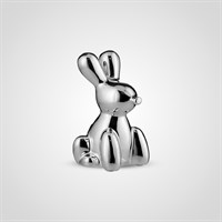 Кролик Декор Серебристый Керамический Малый