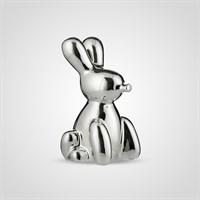 Кролик Декор Серебристый Керамический Большой