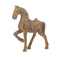 Лошадка Декор Золотистая (Полистоун)