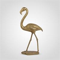 Фламинго Интерьерный Золотистый 95 см. (Полистоун)
