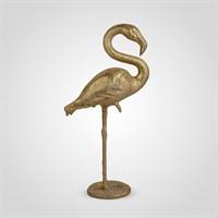 Фламинго Интерьерный Золотистый 84 см. (Полистоун)
