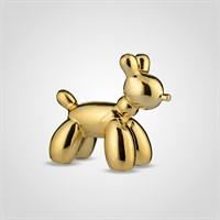 Собака Декор Золотистая Керамическая Малая