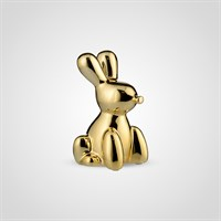 Кролик Декор Золотистый Керамический Малый