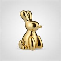 Кролик Декор Золотистый Керамический Большой