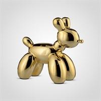 Собака Декор Золотистая Керамическая Большая
