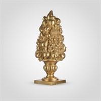 Ваза с Фруктами Золотистая Декор 43 см. (Полистоун)