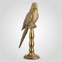 Попугай Декор Золотистый 40 см (Полистоун)