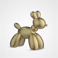 Декоративная Фигура Золотистая Собаки Малая (Керамика)