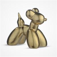 Декоративная Фигура Золотистая Собаки Большая (Керамика)