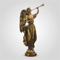 Ангел Золотистый с Тромпетой 36 см. (Полистоун)