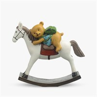 Мишка с Рюкзаком на Лошадке-Качалке (Полистоун)
