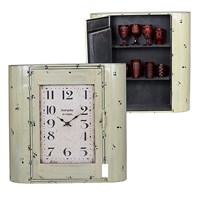 Часы - шкаф Золотистый с Черным 80х22х80см