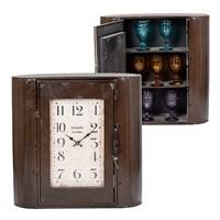 Часы - шкаф металлические коричневые  60х22х60см