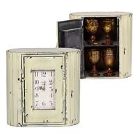 Часы - шкаф металлические Золотистый с Черным 40х40х22см
